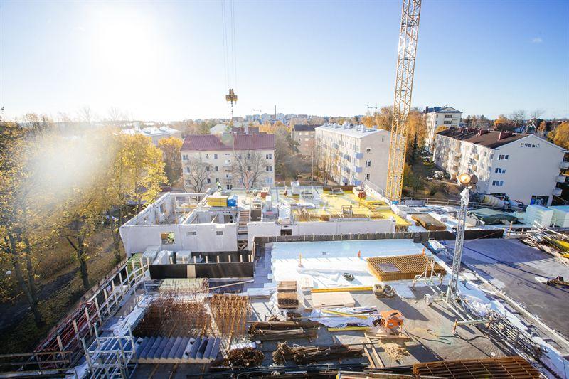 Lauttasaaren uusi liikekeskus Lauttis valmistuu tämän vuoden lopulla.